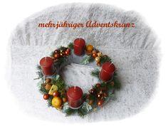 Adventskranz aus Floristenhänden mehrjährig von Die Geschenkidee auf DaWanda.com
