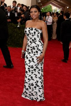 Taraji P. Henson -Met Gala 2015...Beautiful, love the fabric for a simple silhouette. Work with your seamstress to create that special bridal look.