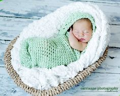CROCHET PATTERN Infant Hooded Cocoon
