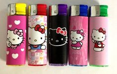 Hello Kitty Refillable Lighters, 5 pieces