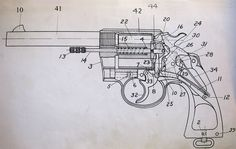 Revolver with the side plate and stock removed