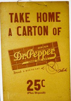 Dr Pepper  . Wish it was still this price