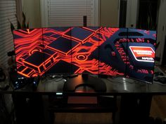 One of the coolest gaming setups I've seen. (SOURCE: http://redd.it/1da019)