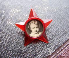 Vintage Soviet Pin Badge V. Lenin. Red Star. by RarityFromAfar, $3.99