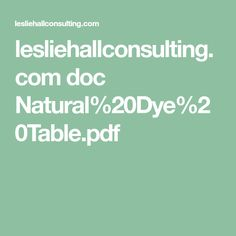 lesliehallconsulting.com doc Natural%20Dye%20Table.pdf
