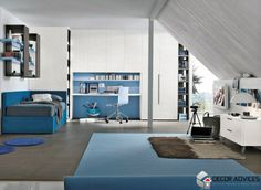 blue and gray kids room decor  Decorate Your Kid's Room With New Model