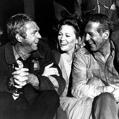 """Saturday Night Hang Out. A classic picture.  1974 - Faye Dunaway, Steve McQueen and Paul Newman in """"The Towering Inferno""""  #TheToweringInferno #PaulNewman #SteveMcQueen #movie #manoftheworld #FayeDunaway #SaturdayNight #HangingOut #icons #friendsforever #hollywood #hangout #classicpicture #hollywood #SanFrancisco #FredAstaire #toweringinferno #cinema"""