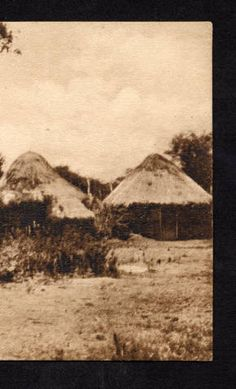 Houses with thatched conical roofs, Angola, English Mission near Bie ca.1920-1940 :: International Mission Photography Archive, ca.1860-ca.1960