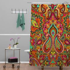 gray and orange shower curtain. Aimee St Hill Paisley Orange Shower Curtain  Pinterest