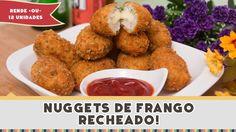 Nuggets de Frango Recheado - Receitas de Minuto #178