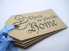 There's no place like home - Favor Tag - Wizard of Oz birthday party