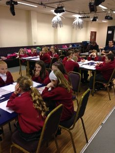 Bryncoch Church School pupils discussing what is racism at our educational club event at Port Talbot Town FC