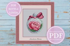 Peony bottle Spring jar with flower Modern Cross Stitch Pattern Modern Cross Stitch Patterns, Counted Cross Stitch Patterns, Cross Stitch Designs, Cross Stitch Embroidery, Embroidery Patterns, Beginner Embroidery, Small Cross Stitch, Cute Cross Stitch, Cross Stitch Heart