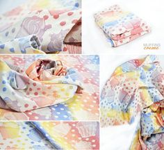 Pellicano Baby Muffins Creme Wrap Muffins Creme will be available. Wrap is 100% cotton and 260g/m2. This is nice delicate rainbow with creamy colours. Dream wrap! Wishlist!
