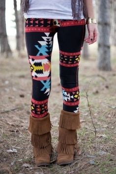 Black Navajo Leggings - Bottoms - Shop