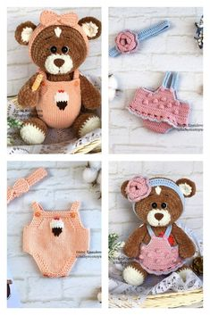 Crochet Animal Patterns, Stuffed Animal Patterns, Crochet Animals, Crochet Bear, Hello Dear, Great Words, Squares, Free Pattern, Bunny