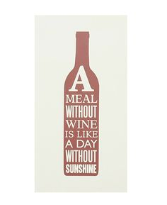 A Meal Without Wine Poster Print