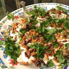 Lebanese Baked Fish with Tahini Sauce and Toasted Pine Nuts - The Lemon Bowl