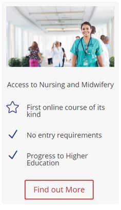 This course is ideal for students who are interested in studying nursing, midwifery and some allied health professions at degree level but do not have the necessary experience or qualifications to progress directly to higher education.