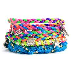 bracelet idea: sweet sixteen in bright neon colors