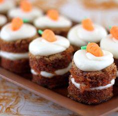 Cute mini carrit cakes! Delicious!