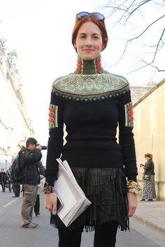 sweater & fringe skirt - Taylor Tomasi Hill