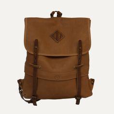Bleu de Chauffe | Men | Leather backpack | Sac à dos Coursier | Sac cuir homme Made in France