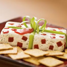 Christmas Present Cheese Appetizer