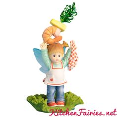 Luscious Shrimp Fairie - From Series Thirty Eight of the My Little Kitchen Fairies collection
