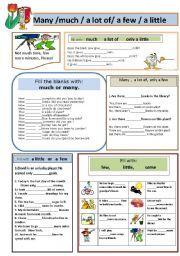 Many Much A Lot Of A Few A Little Learn English Grammar Learn English English Fun