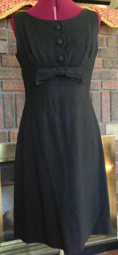 Little Black Vintage Dress 1940s / 1940s Dress by fashionREdesign