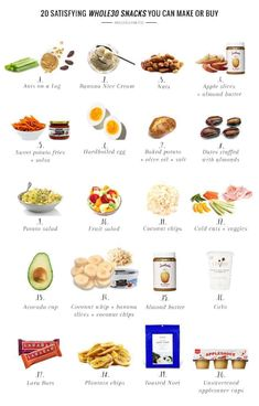 20 Satisfying Snacks You Can Make or Buy These snacks are satisfying, delicious, and best of all: easy! We've even got some store-bought options for when you're in a bind. Good Healthy Recipes, Healthy Foods To Eat, Healthy Snacks, Healthy Eating, Healthy Breakfasts, Protein Snacks, Keto Foods, High Protein, Healthy Midnight Snacks