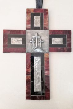 Mosaic Stained Glass & Pewter combination