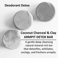 Picture of Coconut Charcoal & Clay Armpit Detox Bar