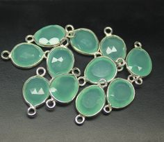 Chalcedony Silver Bezel Connector Station