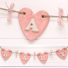 Stunning Pink Baby Bunting - Hand Made in Ceramic By The Pottery Loft