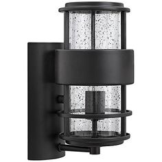 Habitat collection 11 high indoor outdoor wall light hinkley saturn 6 wide satin black outdoor wall light mozeypictures Images