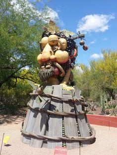 Autumn Sculpture Desert Botanical Garden Phoenix, Botanical Gardens, Autumn, Sculpture, Fall Season, Fall, Sculptures, Sculpting, Statue