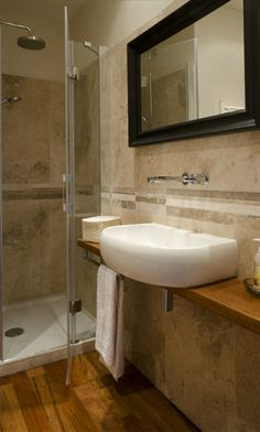 revtement mural et salle de bain en pierre travertin - Salle De Bain Pierre De Travertin