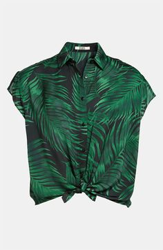 Lovely Fern Print Blouse
