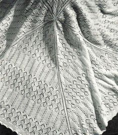 40s design Garden baby shawl Pattern Pretty by VanessaLovesVintage, $2.20