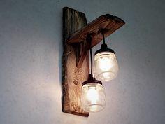 vintage dubble Mason-Jar light
