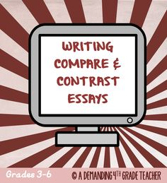 This unit will help you teach your students how to write a COMPARE and CONTRAST ESSAY with a captivating introduction, solid conclusion, and proper linking words. $