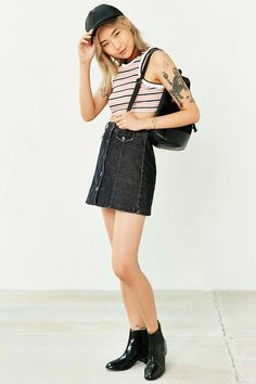 UNIF Leland Cropped Tank Top - Urban Outfitters