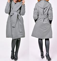 The long coat for the winter GREY from marvellous by DaWanda.com