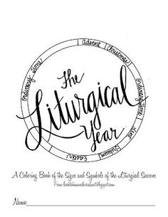 liturgical year coloring page - take your child or ccd class on a tour of your church