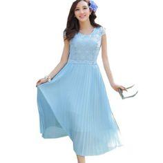 Damen boehmisches Sommerkleid aus Chiffon Cocktailkleid Ballkleid Strandkleid Fashion Season, http://www.amazon.de/dp/B00JRPLCII/ref=cm_sw_r_pi_dp_shJvtb1P88YS5