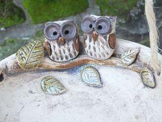 Vogeltränke  Eule Gartenkeramik Unikat Keramik von Terra-Cottage auf DaWanda.com