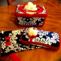 Gift set! Diaper clutch, travel wipe case & nursery wipe case @ Bella Bowlicious on facebook :)