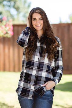 Fall Fashion, Fall Flannel, Flannel Tunic, OOTD- The Boyfriend Flannel by Jane Divine Boutique www.janedivine.com